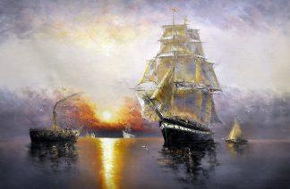 «Парусник» картина  60х90 арт.9Л050