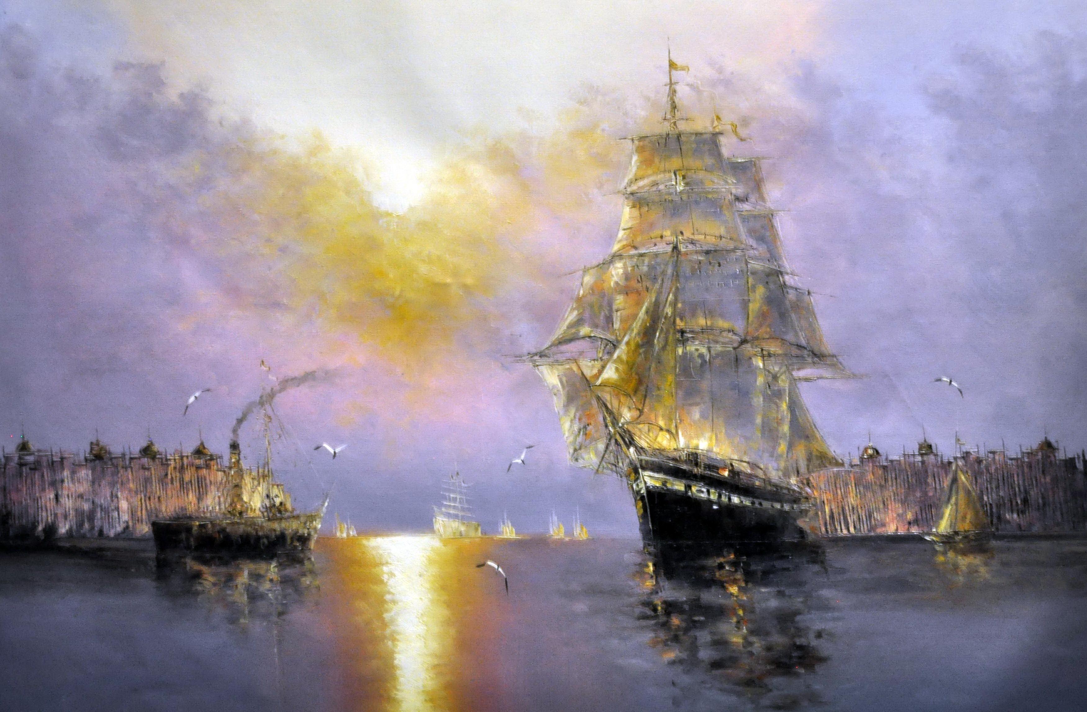 «Парусник» картина  60х90 арт.9Л051