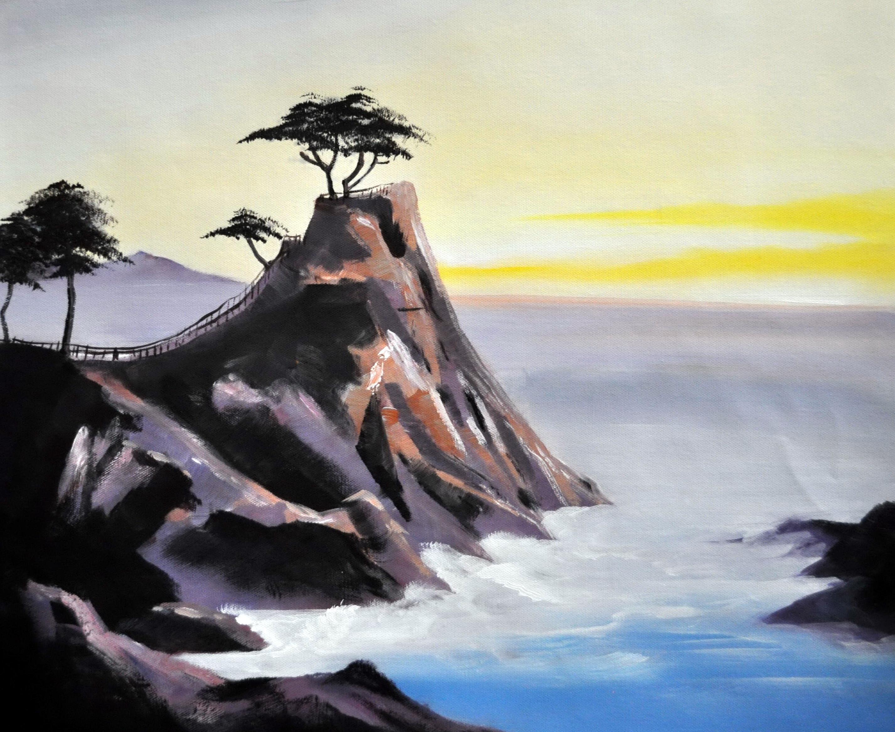 «Прибрежные скалы» картина  50х60 арт.5П111