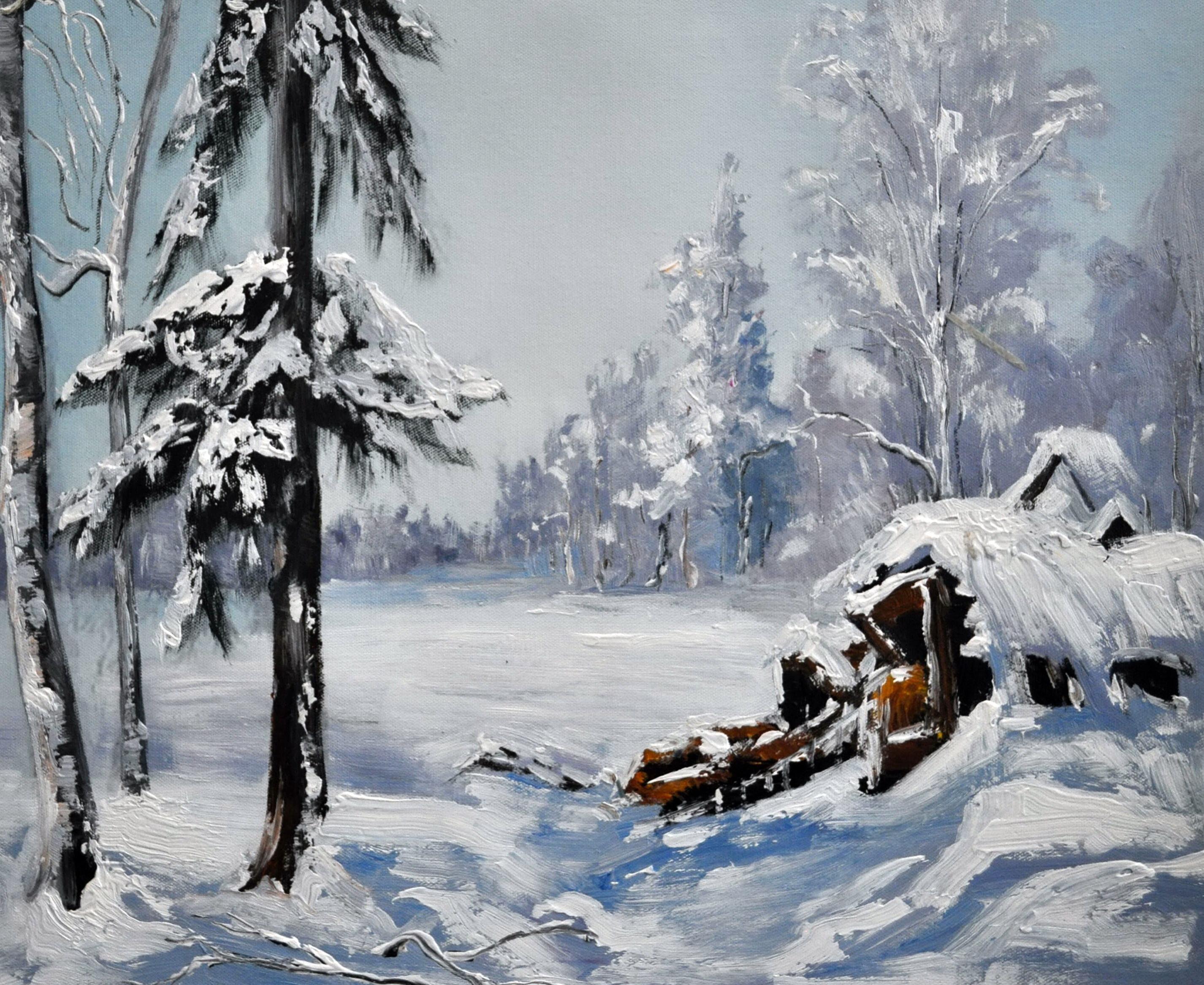 «Зимний пейзаж» картина  50х60 арт.5П112