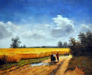 «Летним днем» картина  50х60 арт.5П115