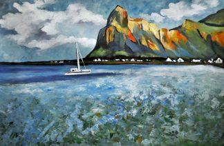 «Пейзаж с яхтой» картина  60х90 арт.9П061