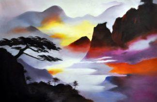«Горы» картина  60х90 арт.9П064