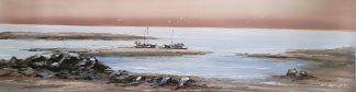 «Морской пейзаж» картина  40смХ150см арт.Н2
