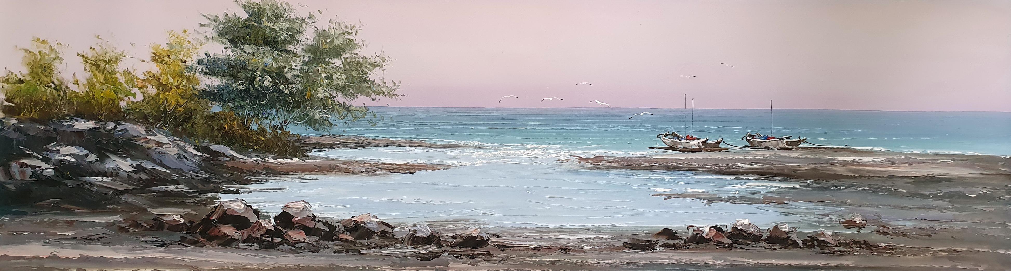«Морской пейзаж» картина  40смХ150см арт.Н3
