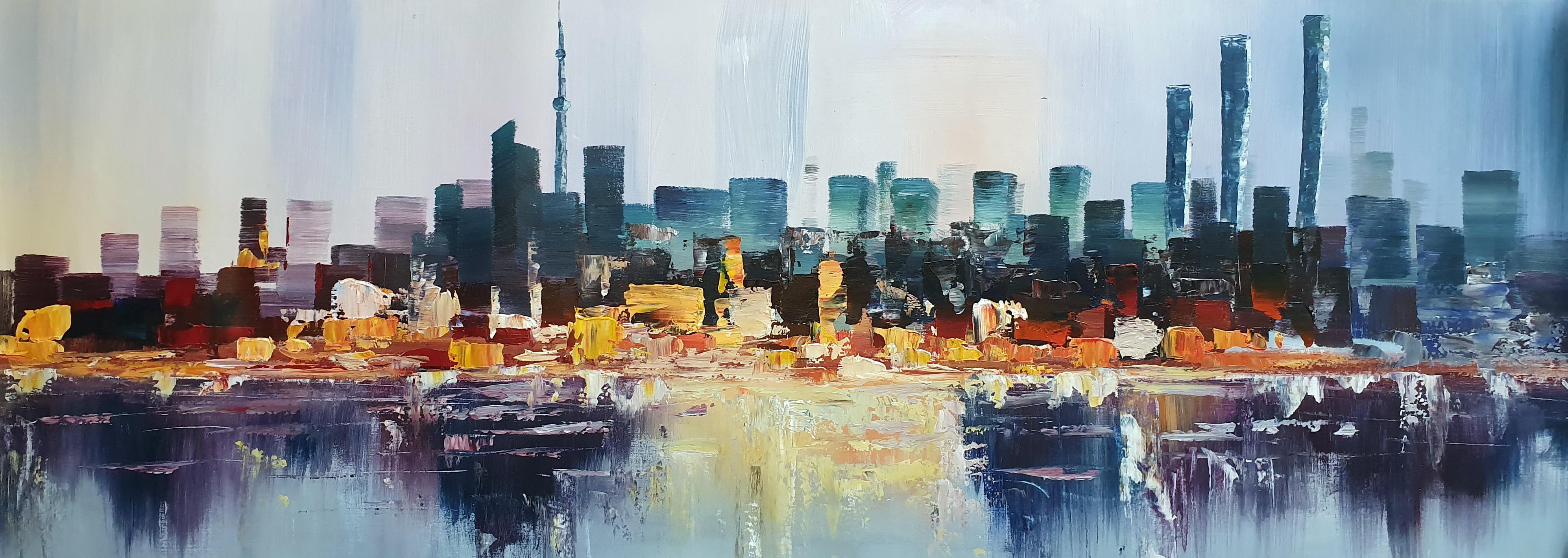 «Мегаполис. Абстракция» картина 50смХ150см арт.Н5