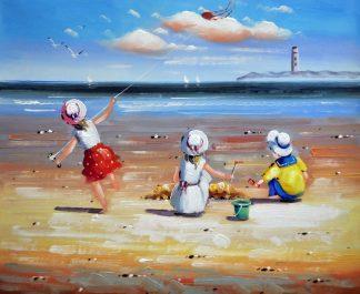 «Дети у моря» картина  50х60 арт.5Р081
