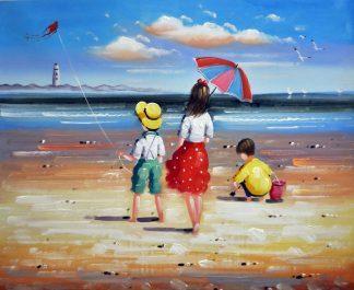 «Дети у моря» картина  50х60 арт.5Р083