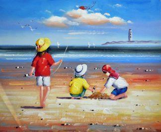 «Дети у моря» картина  50х60 арт.5Р084