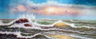 «Морской пейзаж» картина  80смХ160см арт.Н4