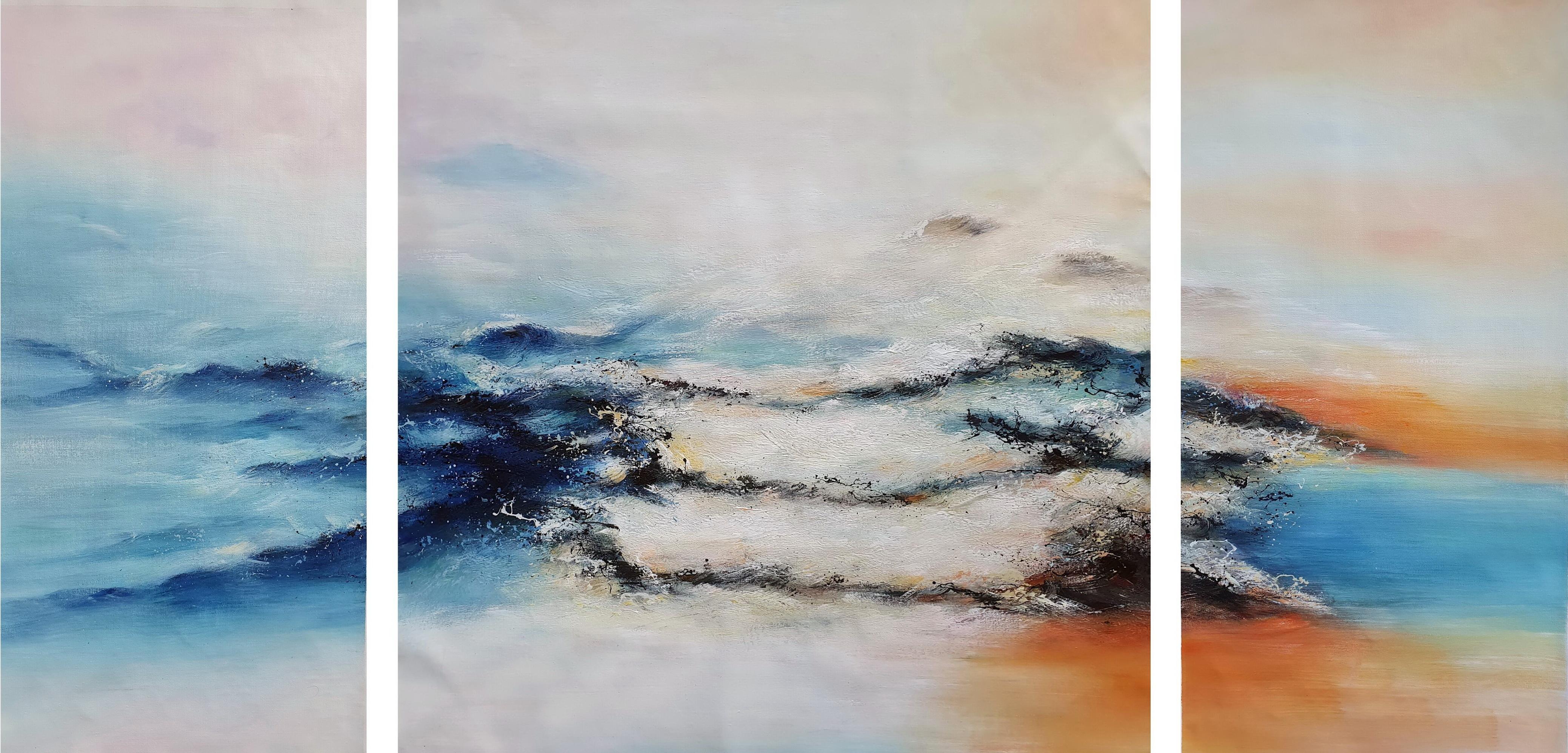 «Абстракция» картина триптих 80смХ160см арт.Т11