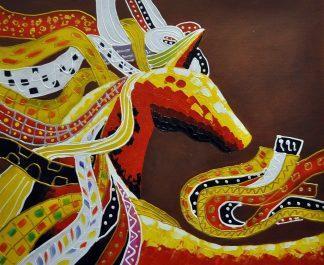 «Конь. Абстракция» картина  50х60 арт.5А073