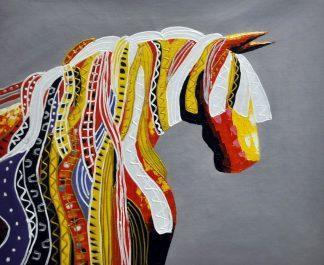 «Конь. Абстракция» картина  50х60 арт.5А074