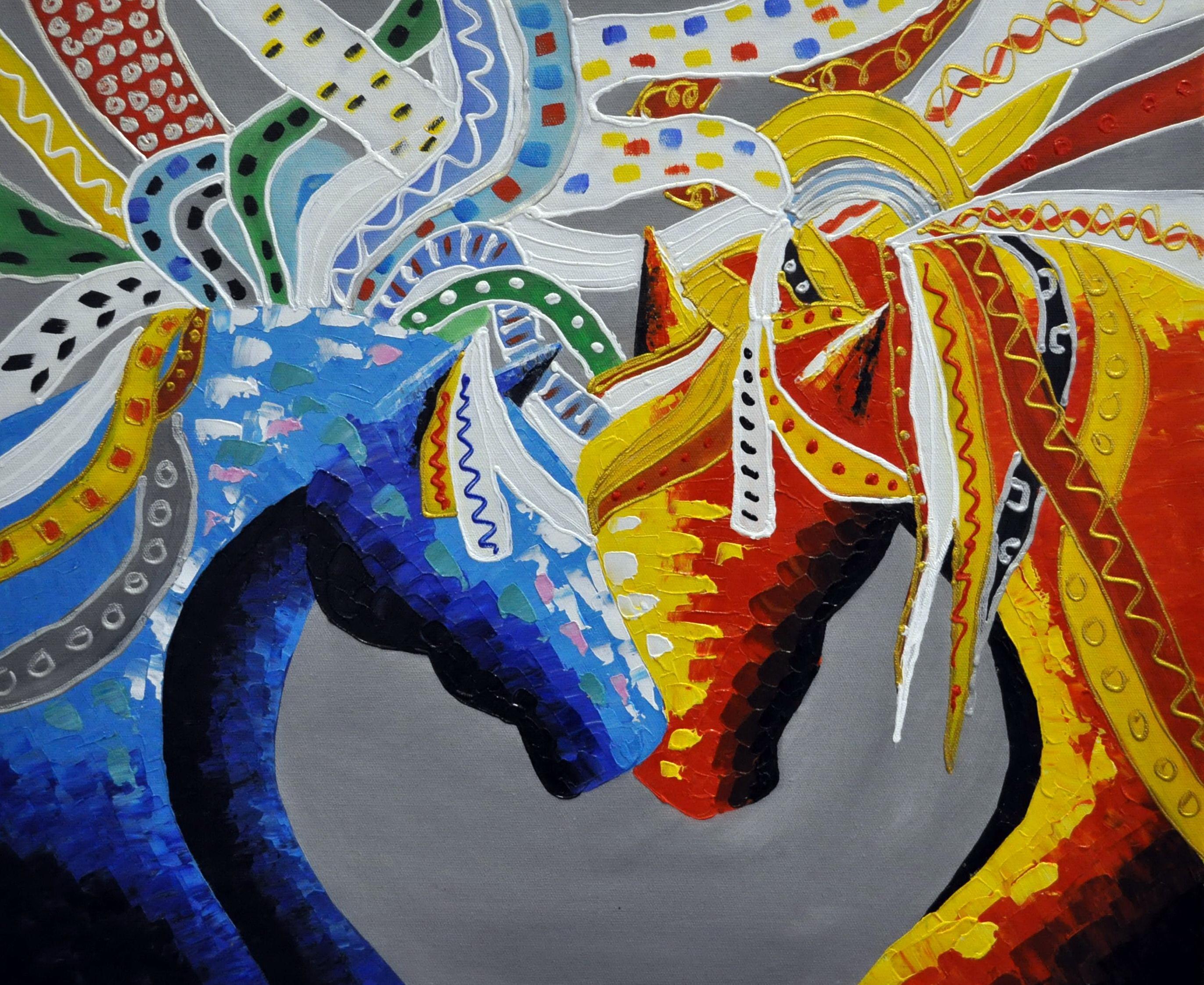 «Кони. Абстракция» картина  50х60 арт.5А075