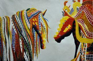 «Кони» картина  60х90 арт.9А031