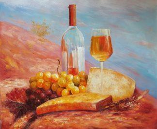 Натюрморт «Обед в Провансе» картина 50х60 арт. 5Ц191