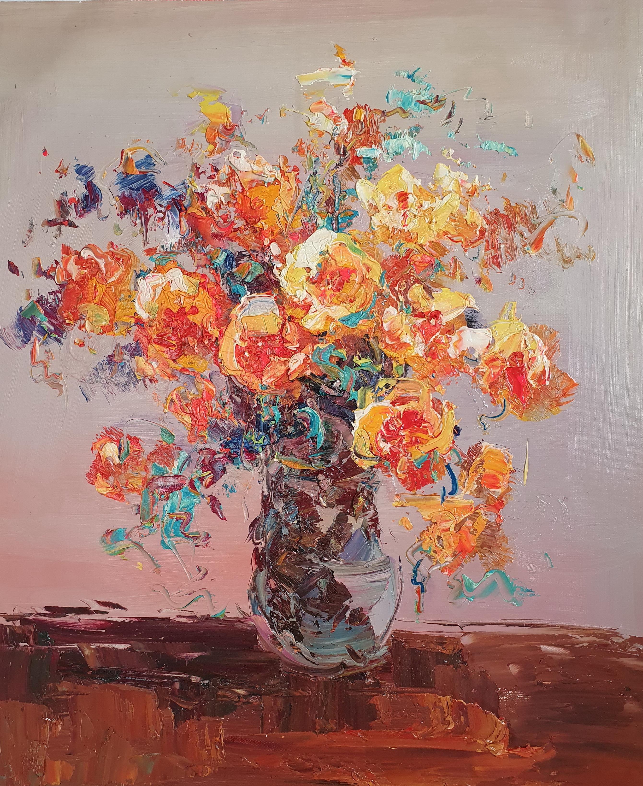 «Чайные розы» картина 50х60 арт. 5Ц214