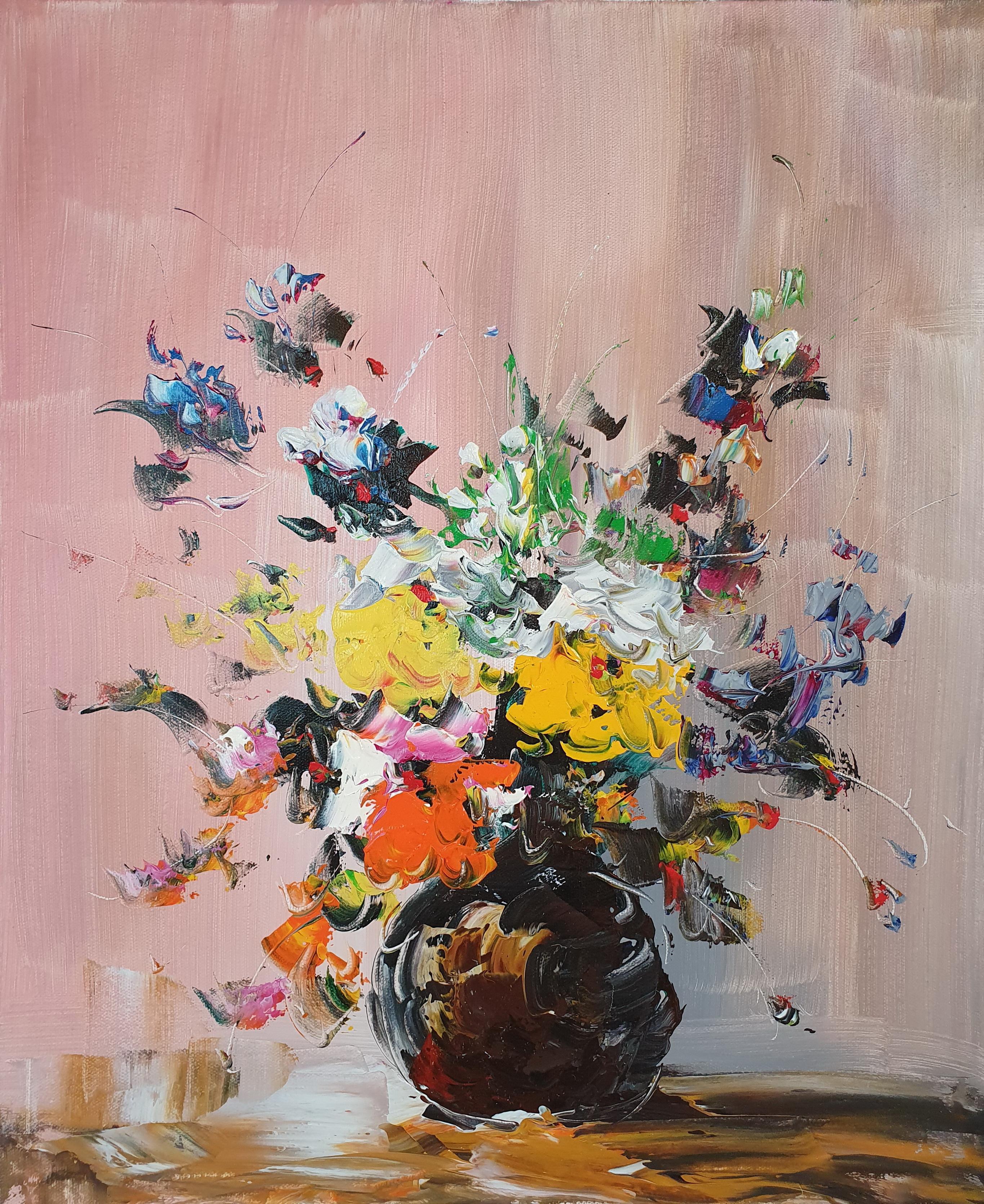 «Цветы в вазе» картина 50х60 арт. 5Ц215