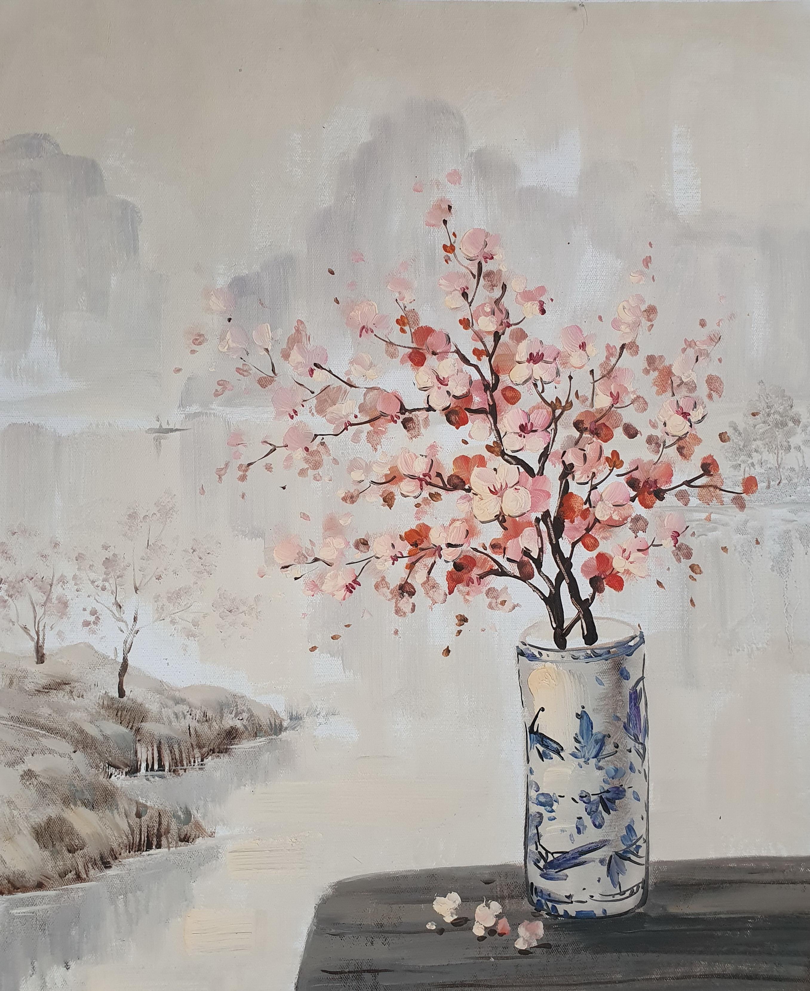 «Ветка сакуры» картина 50х60 арт. 5Ц216