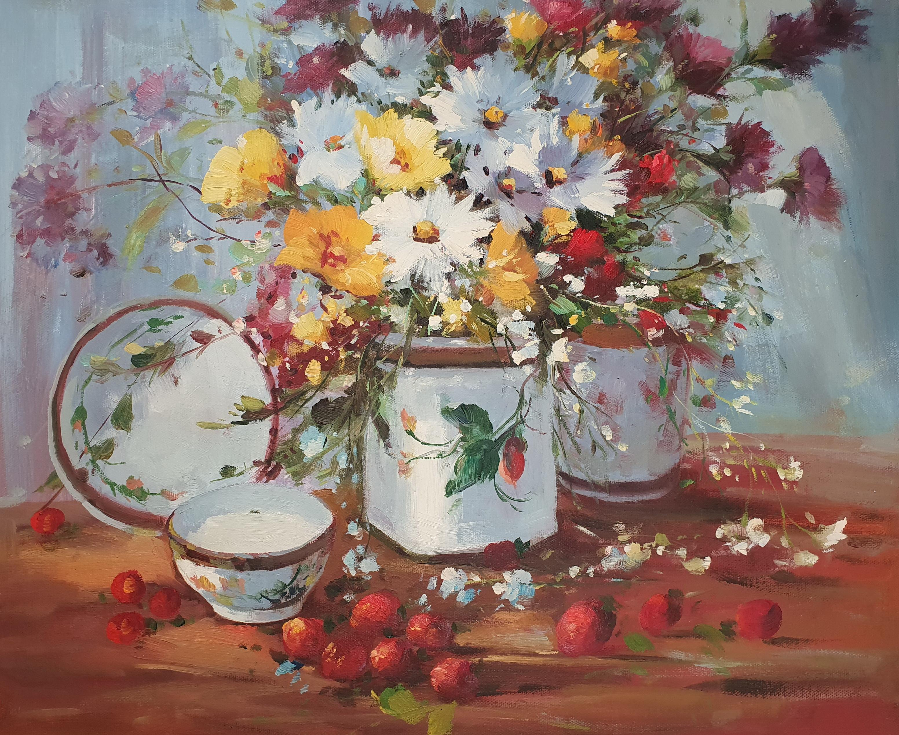 «Букет полевых цветов» картина 50х60 арт. 5Ц217