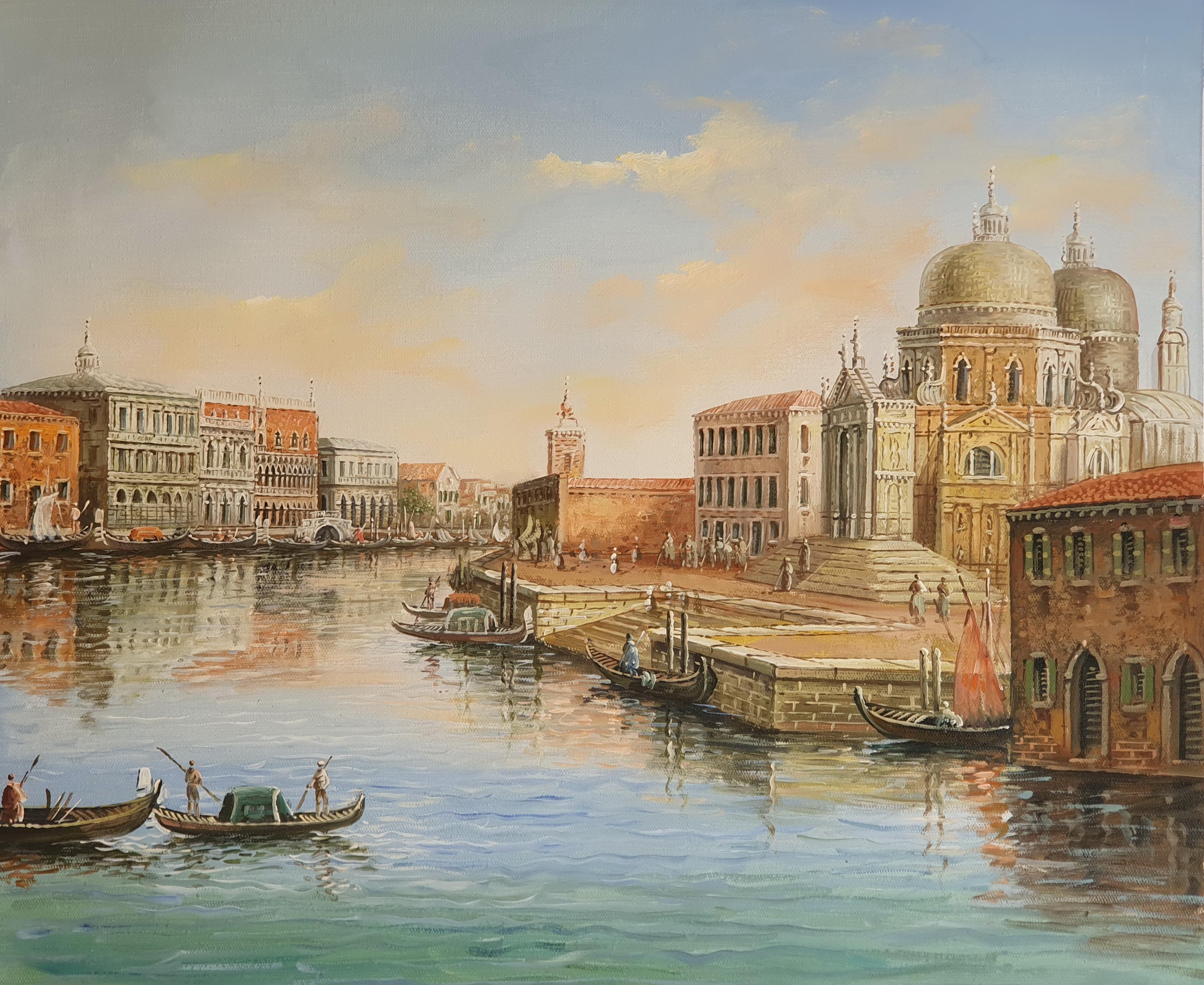 «Вид на Санта-Мария делла Салюте» картина 50х60 арт. 5ГР185