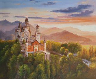 «Замок Нойшванштайн» картина 50х60 арт. 5ГР189
