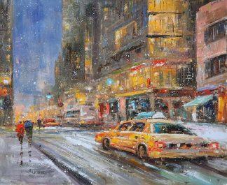 «Мегаполис в движении» картина 50х60 арт. 5ГР196