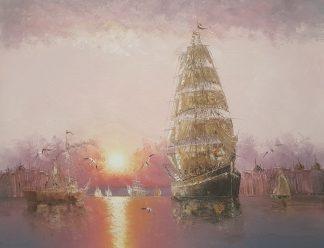 «На всехпарусах» картина 30х40 арт.3Л026