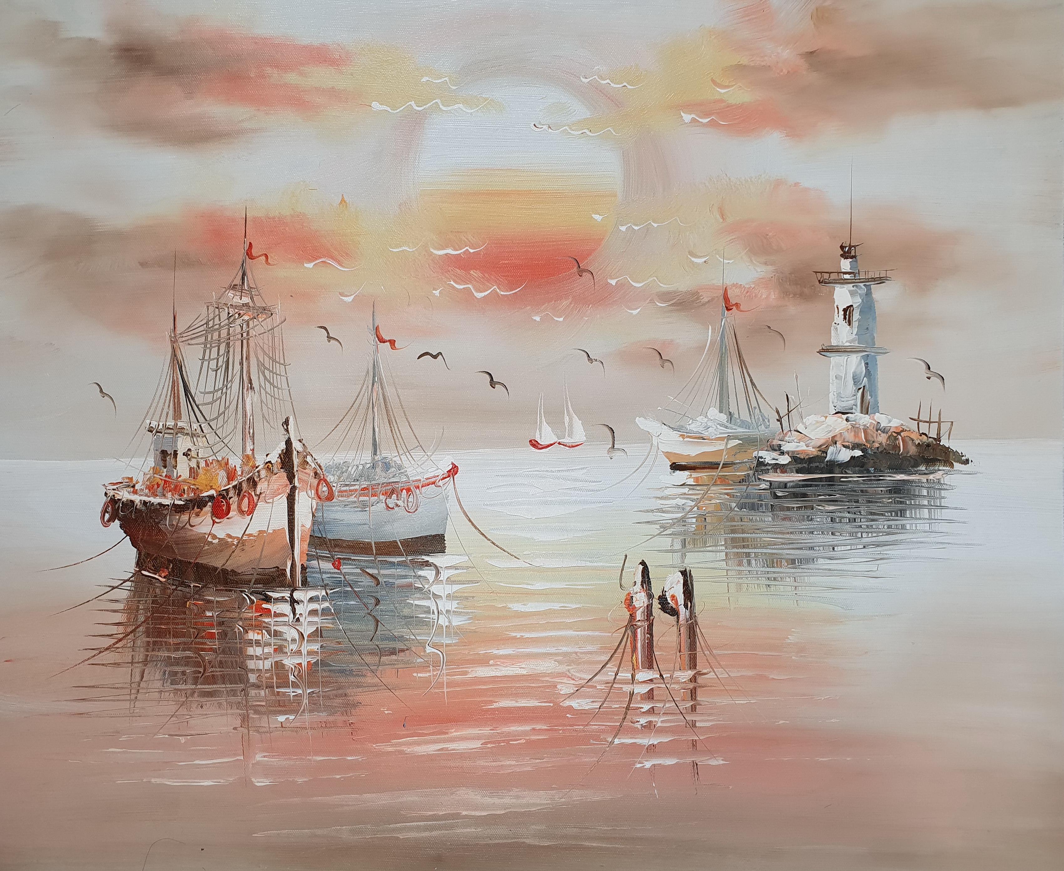 «Корабли» картина 50х60 арт.5Л085