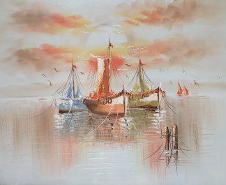 «Корабли» картина 50х60 арт.5Л086