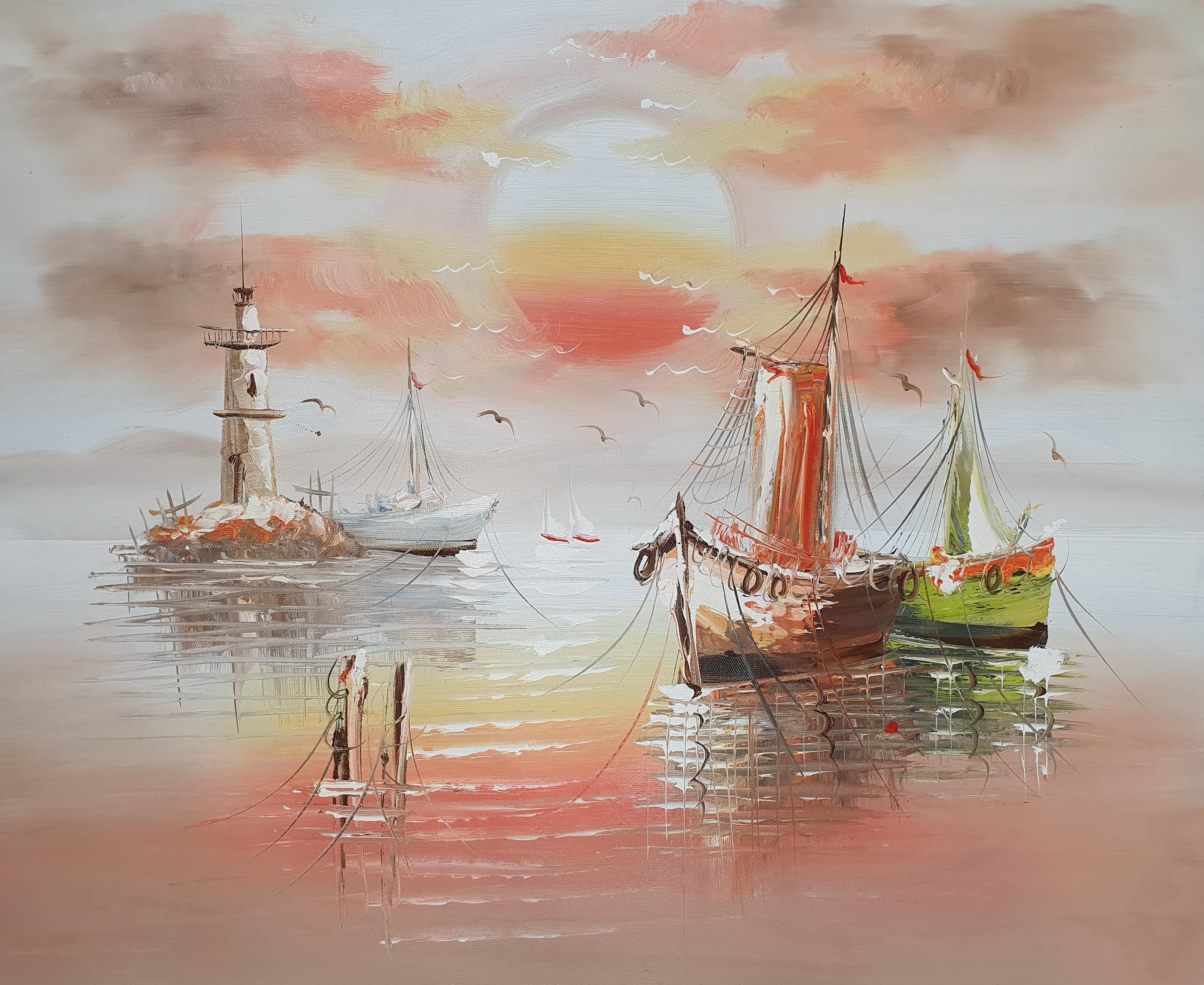 «Корабли» картина 50х60 арт.5Л087