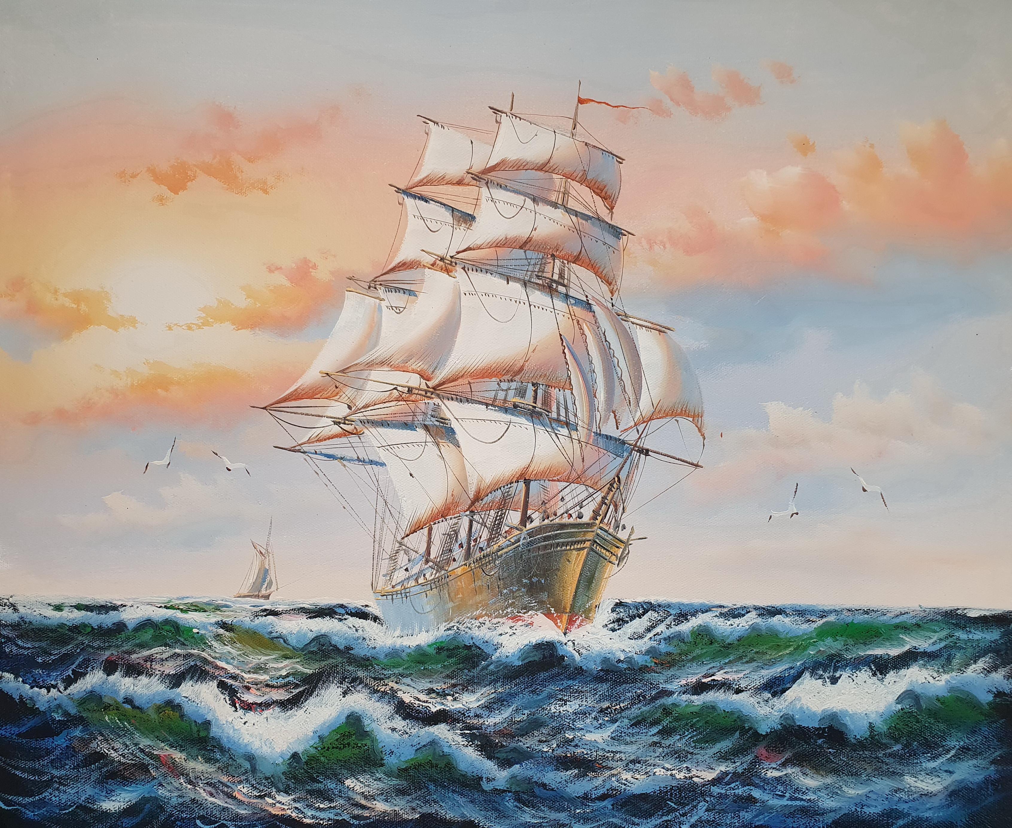 «Парусник» картина 50х60 арт.5Л089