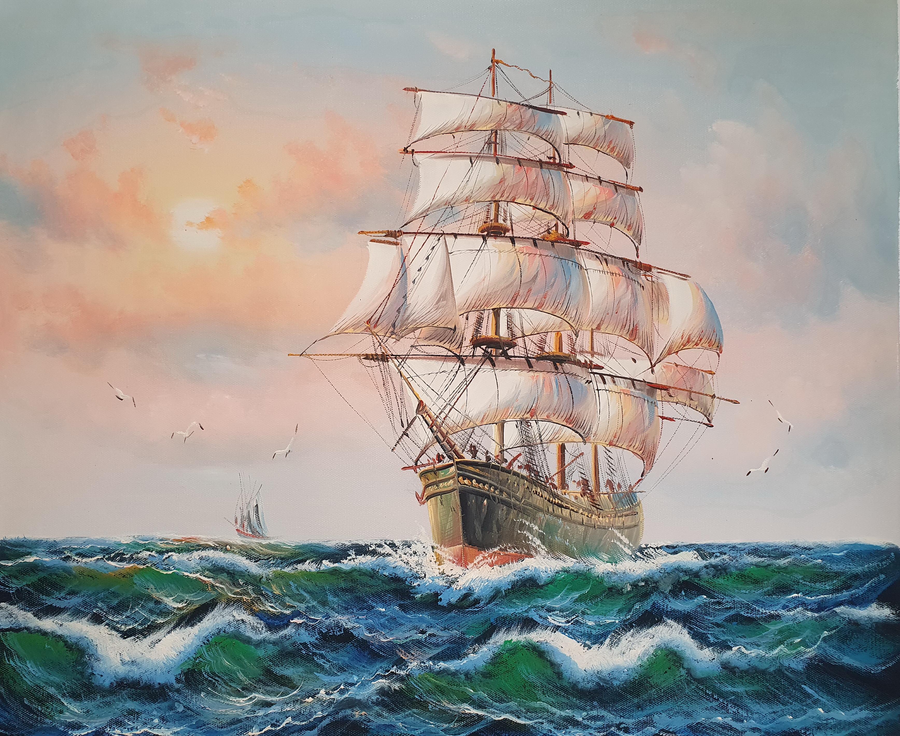 «Парусник» картина 50х60 арт.5Л091