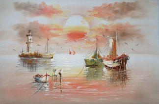 «Корабли» картина 60х90 арт. 9Л086