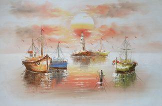 «Корабли» картина 60х90 арт. 9Л087