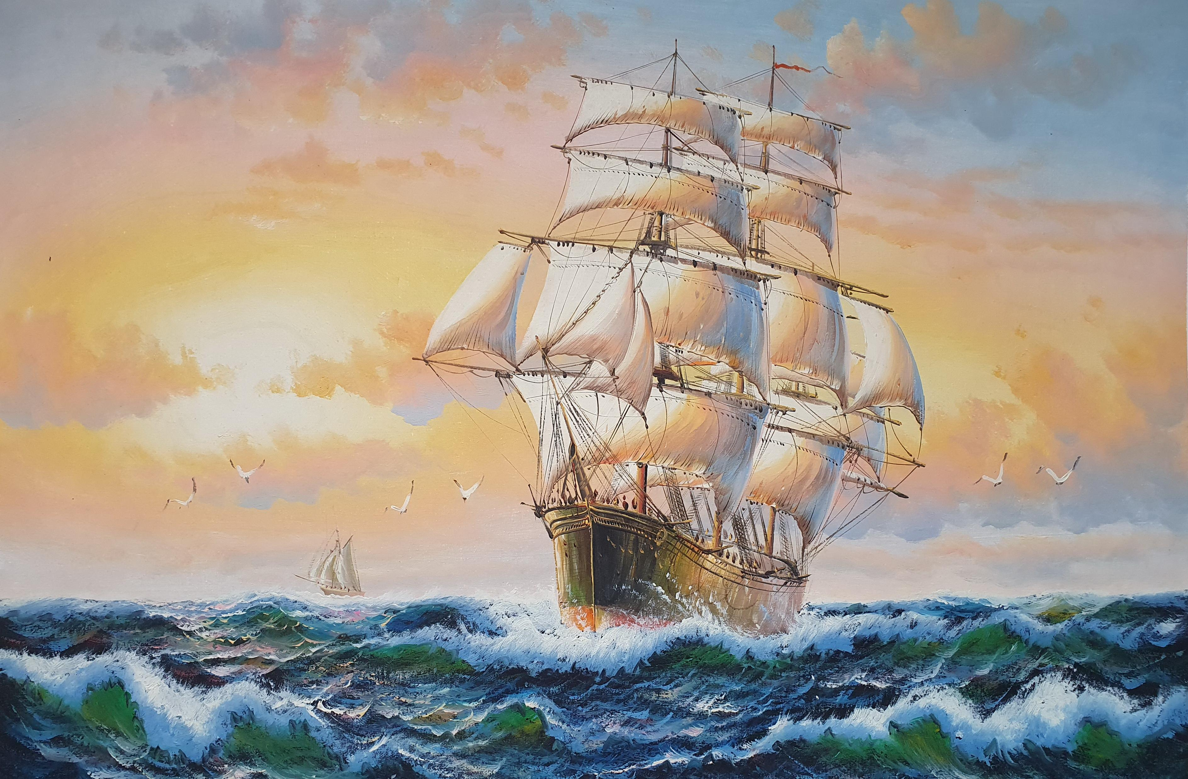 «Фрегат» картина 60х90 арт. 9Л088