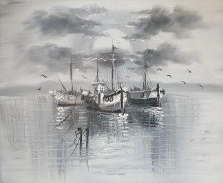 «Корабли монохромные» картина 50х60 арт.5м033
