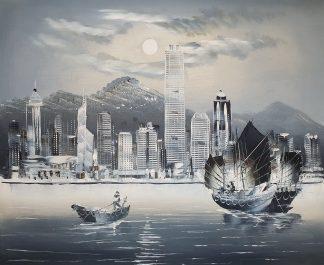 «Гонконг монохромный» картина 50х60 арт.5м034
