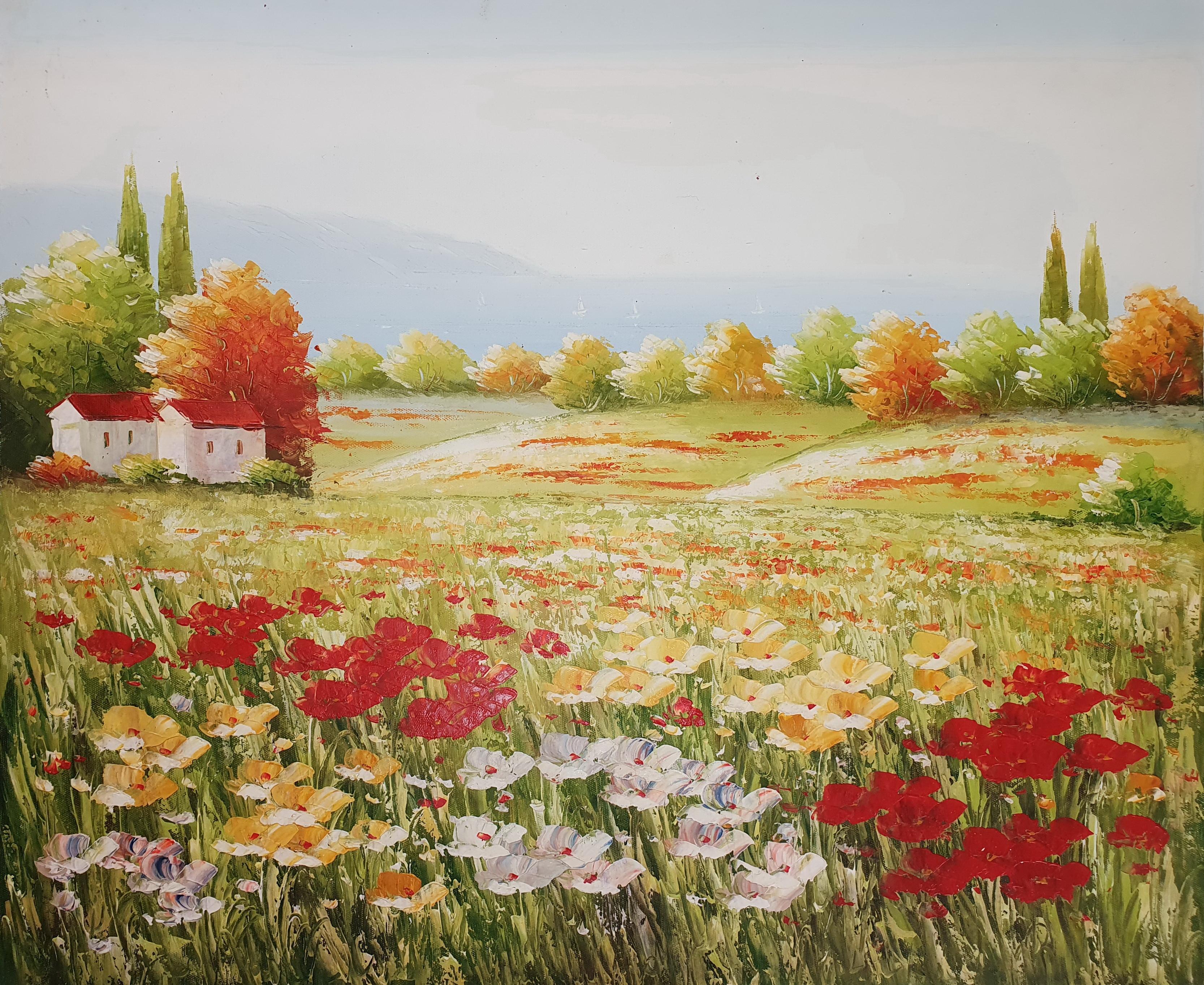 «Бескрайние поля» картина 50х60 арт.5п122