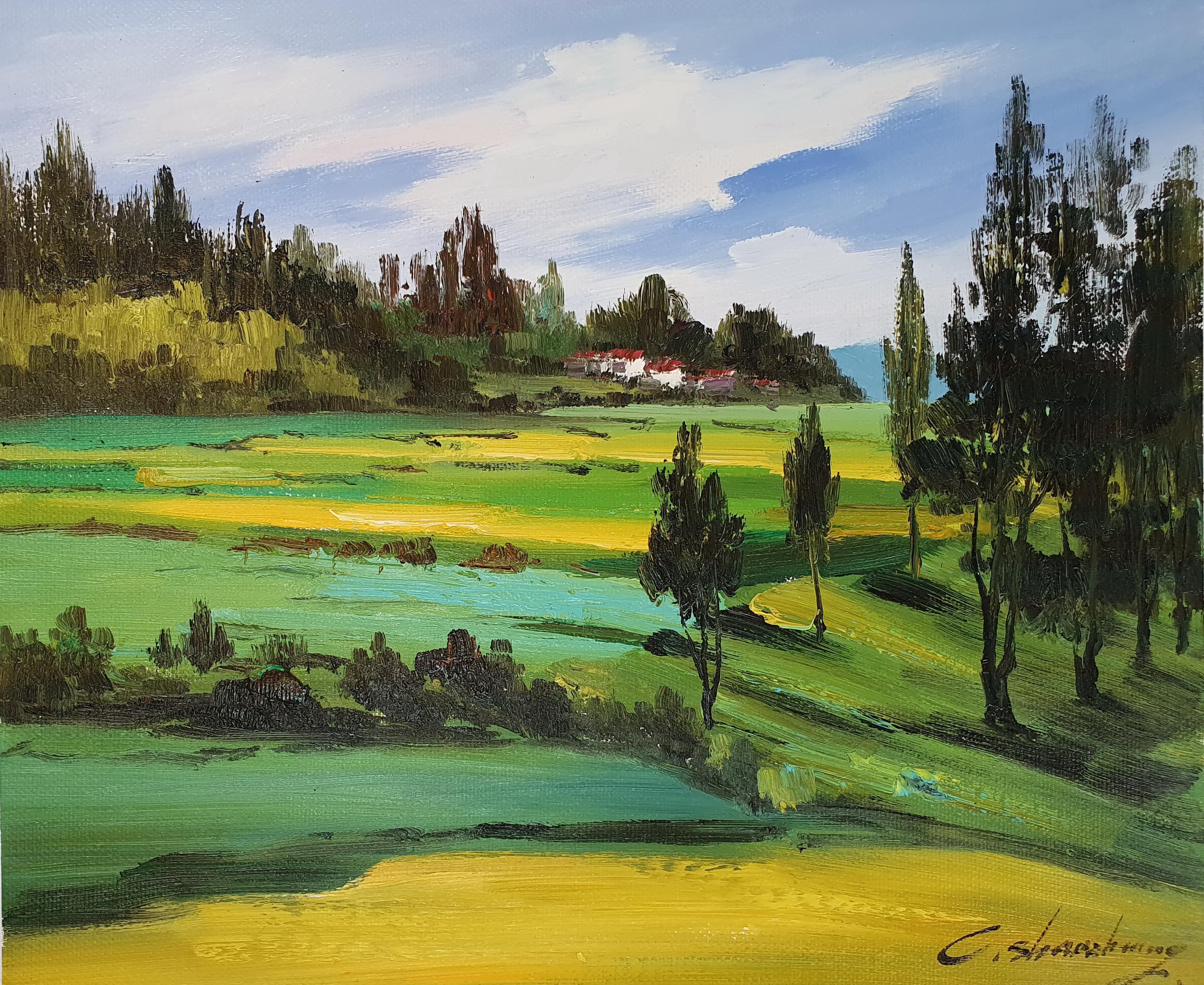 «Солнечный пейзаж» картина 50х60 арт.5п126