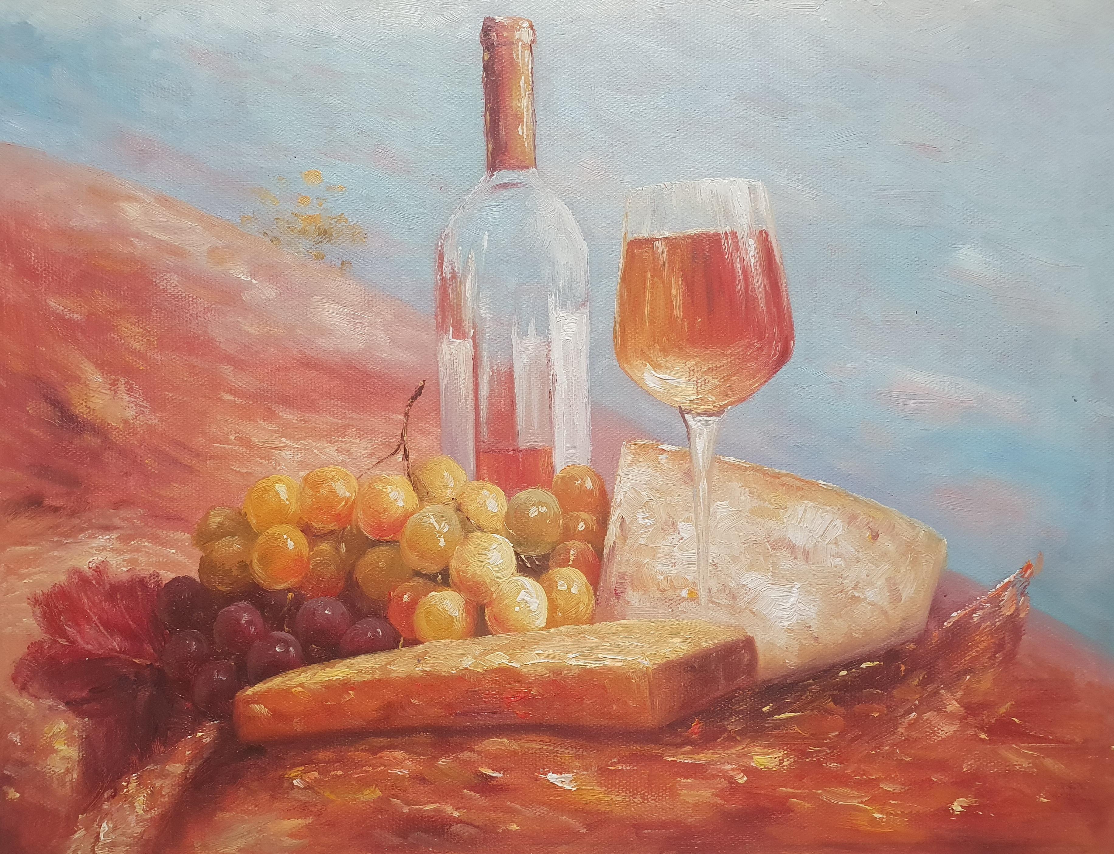 Натюрморт «Обед в Провансе» картина 30х40 арт. 3Ц072