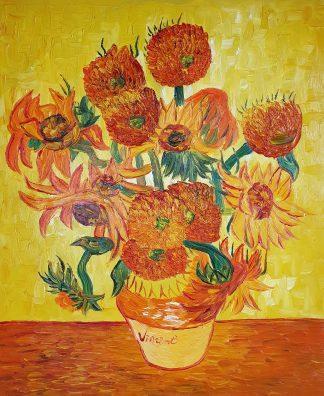 «Подсолнухи в вазе Ван Гога» картина 50х60 арт.5р098