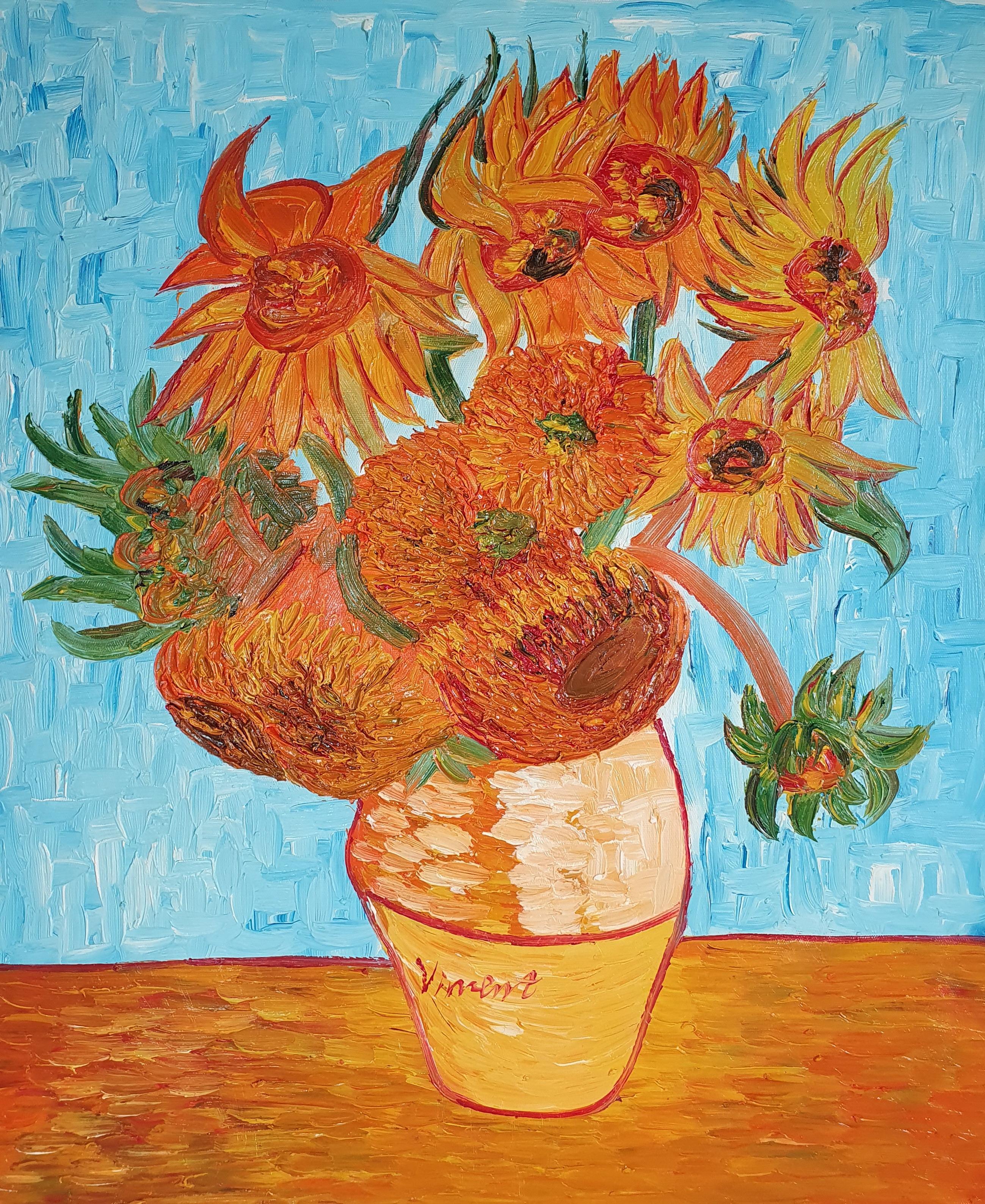 «Подсолнухи в вазе Ван Гога» картина 50х60 арт.5р099