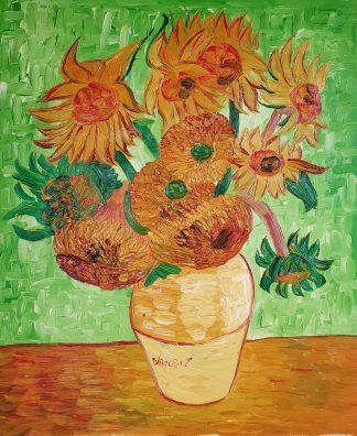 «Подсолнухи в вазе Ван Гога» картина 50х60 арт.5р100