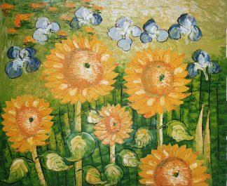 «Подсолнухи Ван Гога» картина 50х60 арт.5р107