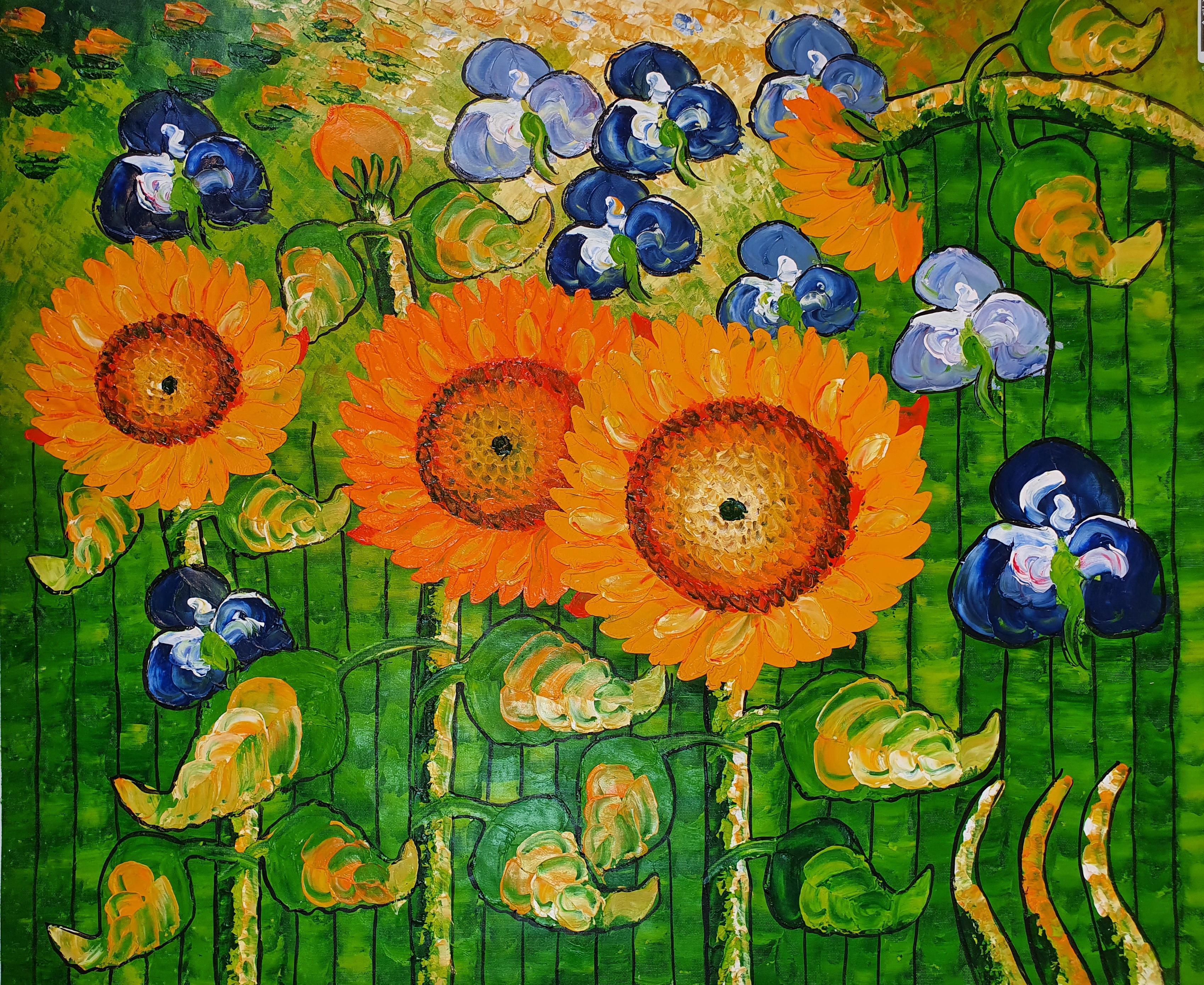 «Подсолнухи Ван Гога» картина 50х60 арт.5р109