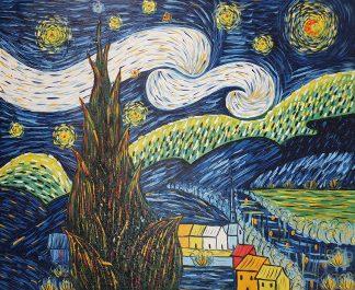 «Звездная ночь Ван Гога» картина 50х60 арт.5р112