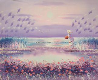 «Девушка у моря» картина 50х60 арт.5р114