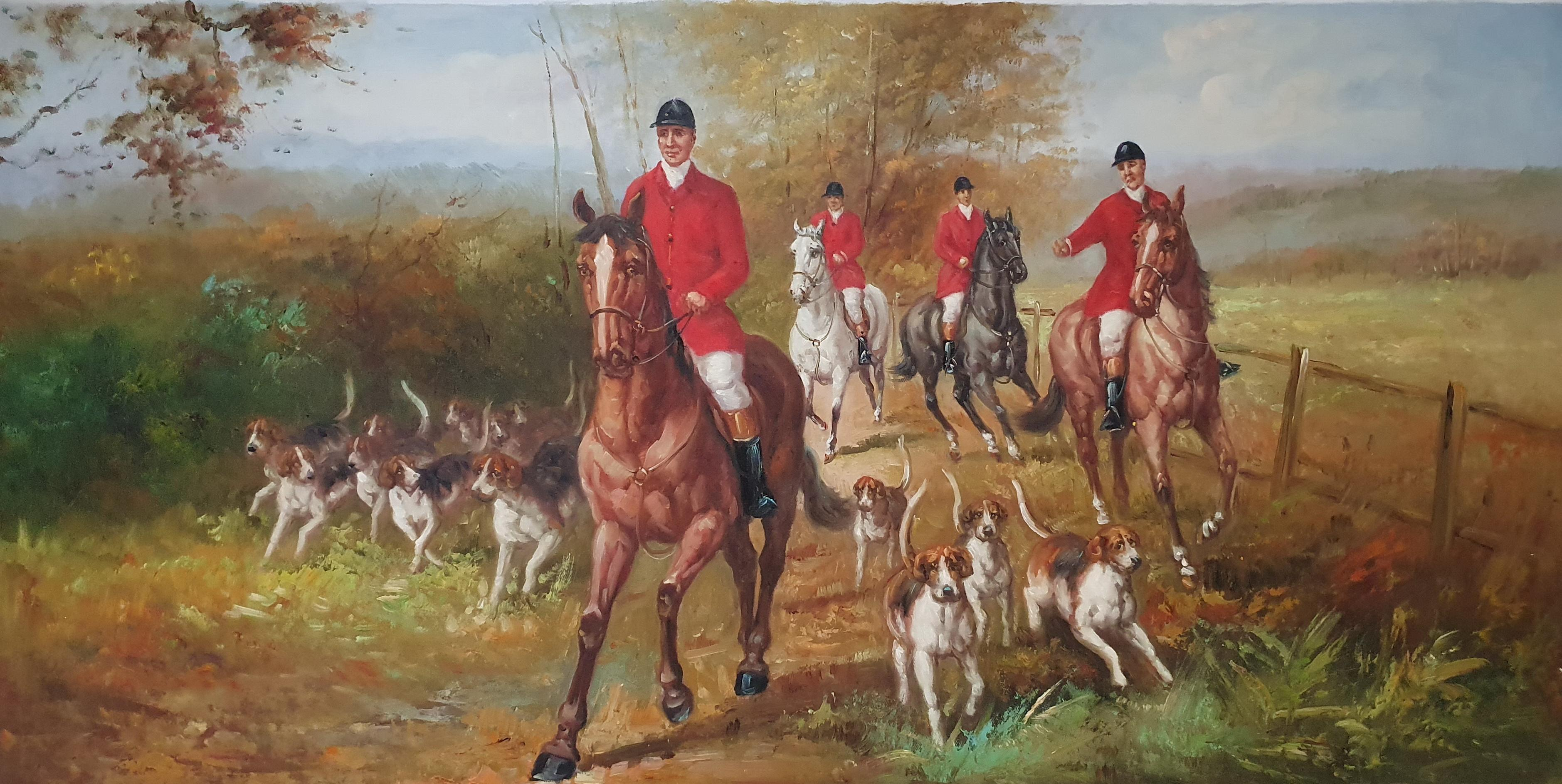 «Английская охота» картина  60х120 арт.Б099