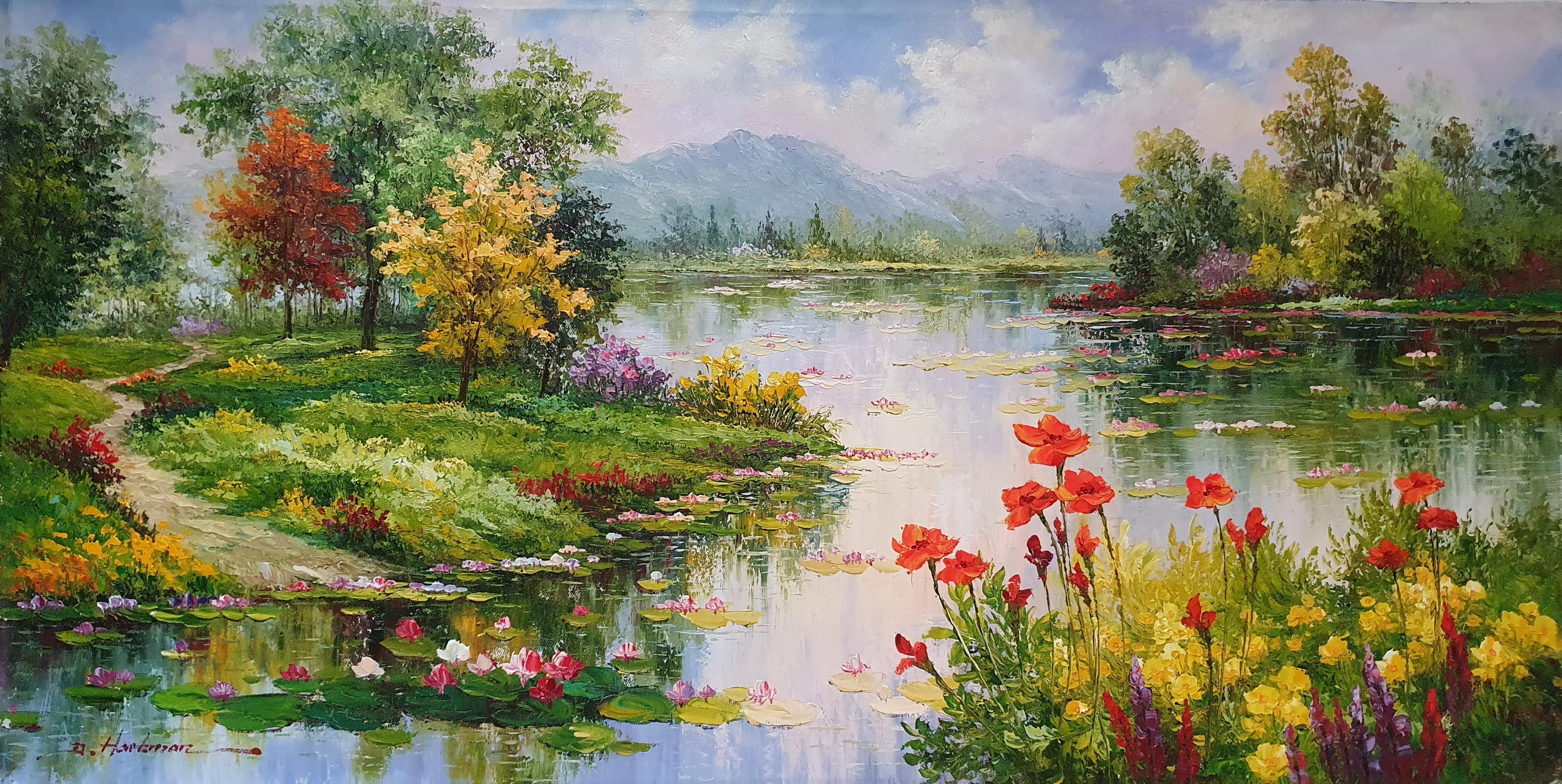 «Сад Моне» картина  60х120 арт.Б100